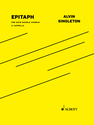 Alvin Singleton: Epitaph for SATB double chorus a cappella