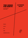 Katherine Balch: Two Songs for Robyn for violin and electronics