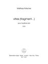 Matthias Pintscher: vitres (fragment...) for oboe solo