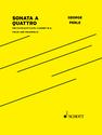 George Perle: Sonata a Quattro for flute/alto flute, clarinet in A, violin, and violoncello