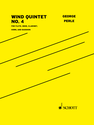 George Perle: Wind Quintet No. 4 for flute, oboe, clarinet, horn, and bassoon